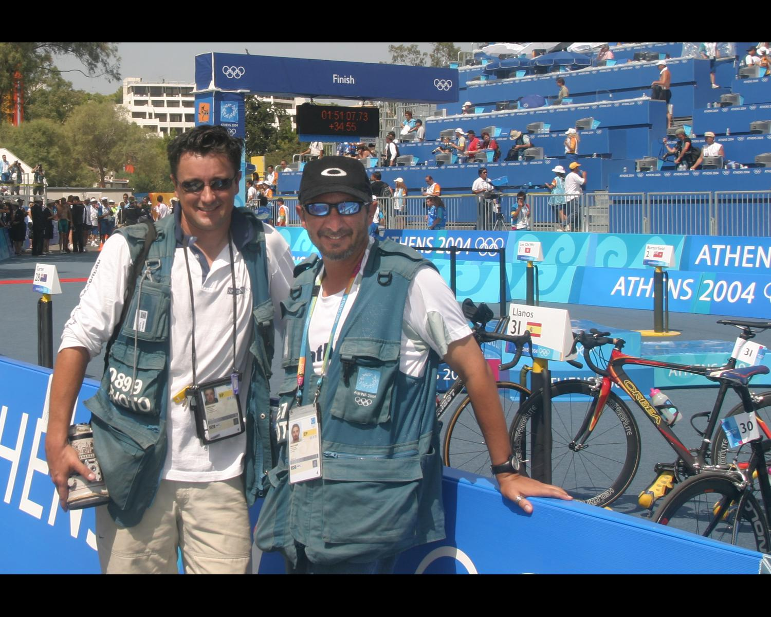 Duane and Delly - 2004 Athens Olympic Games Triathlon